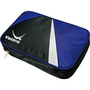 (まとめ) ヤサカ(Yasaka) 卓球ラケットケース ビュートライケース H127 ブルー 【×3セット】