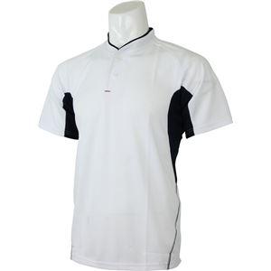 adidas(アディダス) プラクティス2ボタンシャツ カラー:ホワイト/ナイトネイビー サイズ:J/S