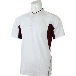adidas(アディダス) プラクティス2ボタンシャツ カラー:ホワイト/カレッジエイトバーガンディ サイズ:J/O