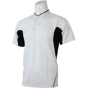 adidas(アディダス) プラクティス2ボタンシャツ カラー:ホワイト/ブラック サイズ:J/S