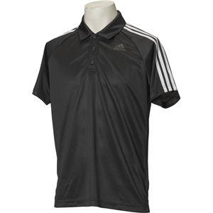 adidas(アディダス) D2M トレーニング3ストライプポロシャツ カラー:ブラック サイズ:J/S