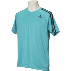 adidas(アディダス) D2M トレーニング3ストライプスTシャツ カラー:エナジーブルー サイズ:J/L