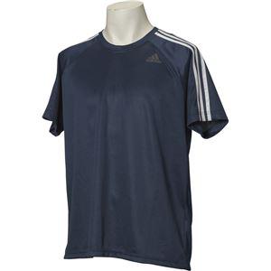adidas(アディダス) D2M トレーニング3ストライプスTシャツ カラー:カレッジネイビー サイズ:J/M