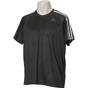 adidas(アディダス) D2M トレーニング3ストライプスTシャツ カラー:ブラック サイズ:J/L