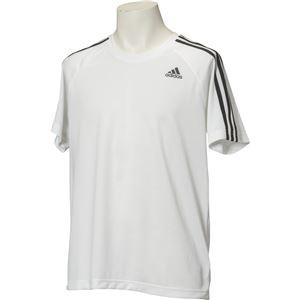 adidas(アディダス) D2M トレーニング3ストライプスTシャツ カラー:ホワイト サイズ:J/M
