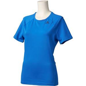 adidas(アディダス) D2M トレーニング ベーシック半袖Tシャツ カラー:ブルー サイズ:J/OT Women's