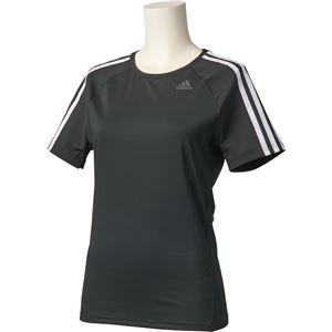 adidas(アディダス) D2M トレーニング ベーシック半袖Tシャツ 3ストライプ カラー:ブラック サイズ:J/S Women's