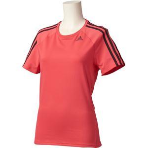adidas(アディダス) D2M トレーニング ベーシック半袖Tシャツ 3ストライプ カラー:コアピンク サイズ:J/OT Women's