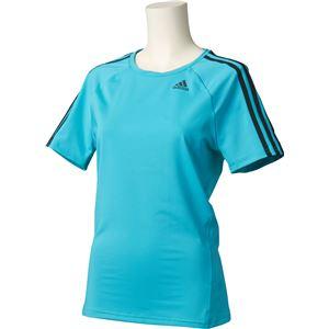 adidas(アディダス) D2M トレーニング ベーシック半袖Tシャツ 3ストライプ カラー:エナジーブルー サイズ:J/M Women's