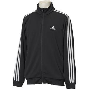 adidas(アディダス) ESSENTIALS 3ストライプス ジャージジャケット カラー:ブラック/ホワイト サイズ:J/XO