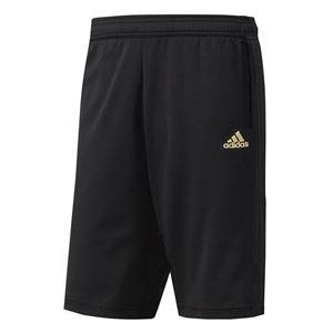 adidas(アディダス) ESSENTIALS ジャージハーフパンツ カラー:ブラック/ブラック/ゴールドメット サイズ:J/L