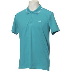 adidas(アディダス) ESSENTIALS ストライプ ポロシャツ カラー:ラブグリーン サイズ:J/M