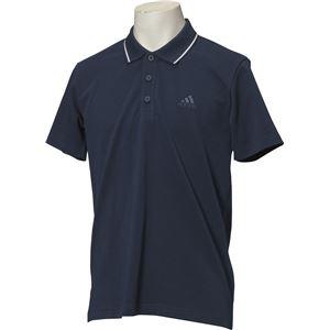 adidas(アディダス) ESSENTIALS ストライプ ポロシャツ カラー:カレッジネイビー サイズ:J/L