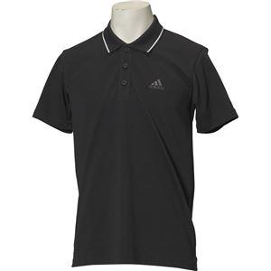 adidas(アディダス) ESSENTIALS ストライプ ポロシャツ カラー:ブラック サイズ:J/S
