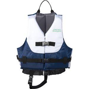 AQA(アクア) ライフジャケットキッズIII ホワイト×ネイビー KA9021