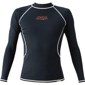 AQA(アクア) UVラッシュガード ロングメンズ(長袖) ブラック Lサイズ KW4601