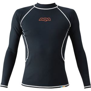 AQA(アクア) UVラッシュガード ロングメンズ(長袖) ブラック LLサイズ KW4601