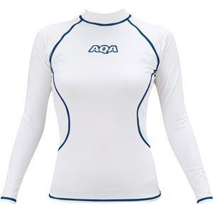 AQA(アクア) UVラッシュガード ロングレディース ホワイト Lサイズ KW4605
