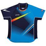 ヤマト卓球 VICTAS(ヴィクタス) 卓球アパレル V-SW028 Viscotecs ゲームシャツ(男女兼用) 031456 ブルー Mサイズ