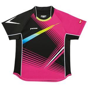 ヤマト卓球 VICTAS(ヴィクタス) 卓球アパレル V-SW028 Viscotecs ゲームシャツ(男女兼用) 031456 ピンク SSサイズ