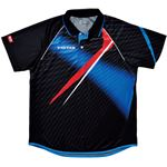 ヤマト卓球 VICTAS(ヴィクタス) 卓球アパレル V-SW035 Viscotecs ゲームシャツ(男女兼用) 031458 ブルー Mサイズ