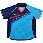 ヤマト卓球 VICTAS(ヴィクタス) 卓球アパレル V-LS037 Viscotecs ゲームシャツ(女子用) 031460 ブルー Lサイズ