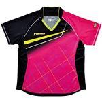 ヤマト卓球 VICTAS(ヴィクタス) 卓球アパレル V-LS037 Viscotecs ゲームシャツ(女子用) 031460 ピンク Lサイズ