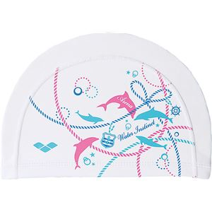 デサント ARENA(アリーナ) 2 WAY SILICONE CAP 2ウェイシリコンキャップ FAR7906 ホワイト F(50-59)サイズ