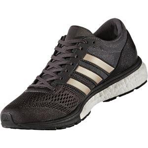 adidas(アディダス) ランニングシューズ BA8147 ユーティリティブラック×プラチナメット×コアブラック 23.5cm