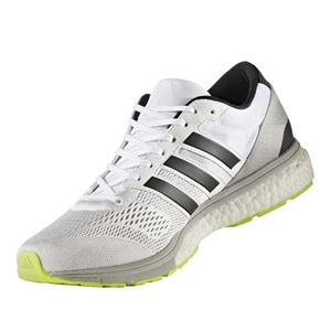 adidas(アディダス) ランニングシューズ BA8228 ランニングホワイト×コアブラック×ソーラーイエロー 24.5cm