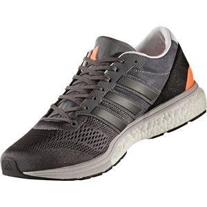 adidas(アディダス) ランニングシューズ BB3321 グレーファイブ×コアブラック×ソーラーオレンジ 26.5cm