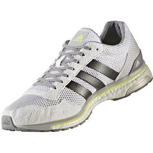 adidas(アディダス) ランニングシューズ BY2784 ランニングホワイト×トレースグレーメット×ソーラーイエロー 25.5cm