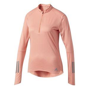 adidas(アディダス) RESPONSE ハーフジップ長袖Tシャツ W サングロー J/L BUF41