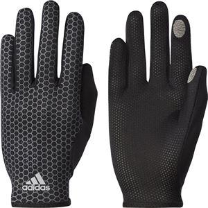 adidas(アディダス) ランニング adizero 軽量グローブ ブラック×ブラック S DUD93 - 拡大画像