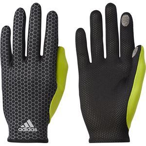 adidas(アディダス) ランニング adizero 軽量グローブ ブラック×セミソーラーイエロー L DUD93 - 拡大画像