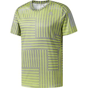adidas(アディダス) RESPONSE グラフィックTシャツ M セミソーラーイエロー×グレーワン J/S MKS10