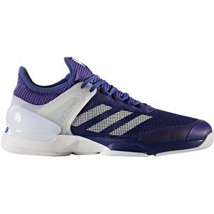 adidas(アディダス) adizero ubersonic 2 AC(オールコート用) ミステリーインク×ランニングホワイト×エナジーインク 27cm CG3084