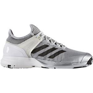adidas(アディダス) adizero ubersonic 2 OC(オムニ・クレーコート用) シルバーメット×コアブラック×ランニングホワイト 28cm CG3110