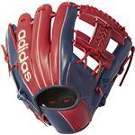 adidas(アディダス) Baseball 軟式カラーグラブ IH DMT75 カレッジエイトバーガンディ×ミステリーブルー LH