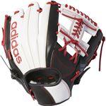 adidas(アディダス) Baseball 軟式カラーグラブ IH DMT75 ホワイト×ブラック RH