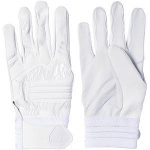 adidas(アディダス) Baseball 5T バッティンググローブ DMU57 ホワイト×ホワイト M