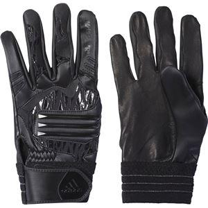 adidas(アディダス) Baseball 5T バッティンググローブ DMU57 ブラック×ブラック M