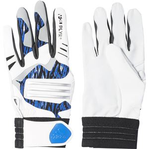 adidas(アディダス) Baseball 5T バッティンググローブ DMU57 ホワイト×シルバーメット O