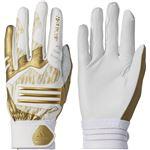 adidas(アディダス) Baseball 5T バッティンググローブ DMU57 ゴールドメット×ホワイト M