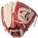 adidas(アディダス) Baseball 軟式カラーグラブ PI DUV04 トレースカーキ×スカーレット LH