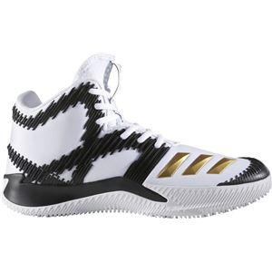 adidas(アディダス) バスケットボールシューズ SPG(スコアリング・ポイント・ガード) B49500 ランニングホワイト×ゴールドメット×コアブラック 25.0cm