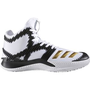 adidas(アディダス) バスケットボールシューズ SPG(スコアリング・ポイント・ガード) B49500 ランニングホワイト×ゴールドメット×コアブラック 25.5cm