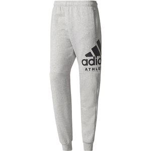 adidas(アディダス) M SPORT ID ATHLETICS ロゴ スウェットテーパードパンツ (裏起毛) DLF14 ミディアムグレイヘザー J/L