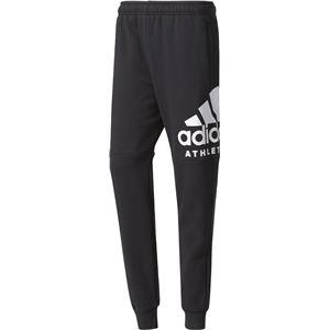 adidas(アディダス) M SPORT ID ATHLETICS ロゴ スウェットテーパードパンツ (裏起毛) DLF14 ブラック J/L