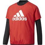 adidas(アディダス) Boys TRN CLIMIX パデッドプルオーバー DUV98 スカーレット J160